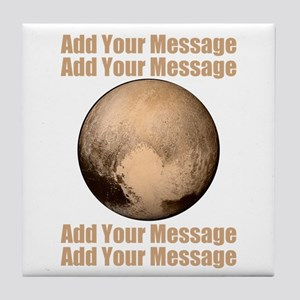 PERSONALIZED Pluto Tile Coaster